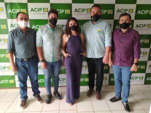Diretoria da Acip recebe visita de empresários